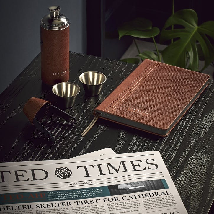 Ted's World Hip Flask & Shot Cups