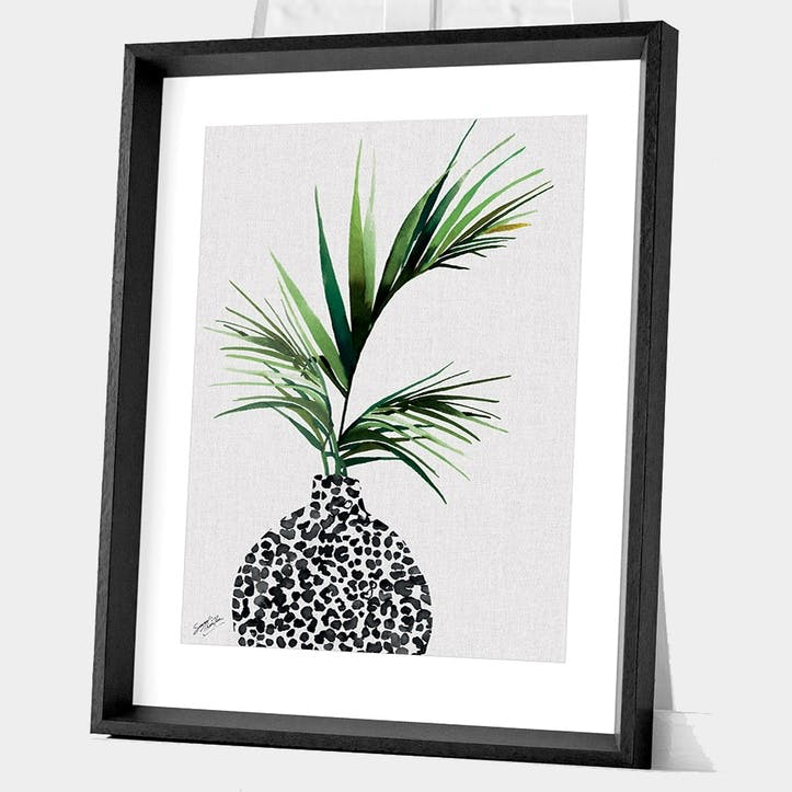 Summer Thornton Areca Palm Plant Framed Print, 55 x 45cm