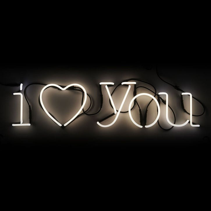 I Love You, Neon Art, White