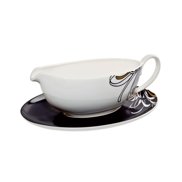 Chrysanthemum Sauce Boat and Stand, 300ml