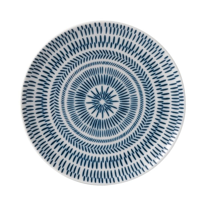 ED Ellen DeGeneres Side Plate, Cobalt Blue Chevron
