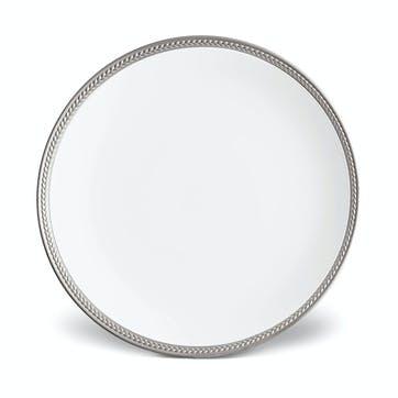 Soie Tressée Dinner Plate, Platinum