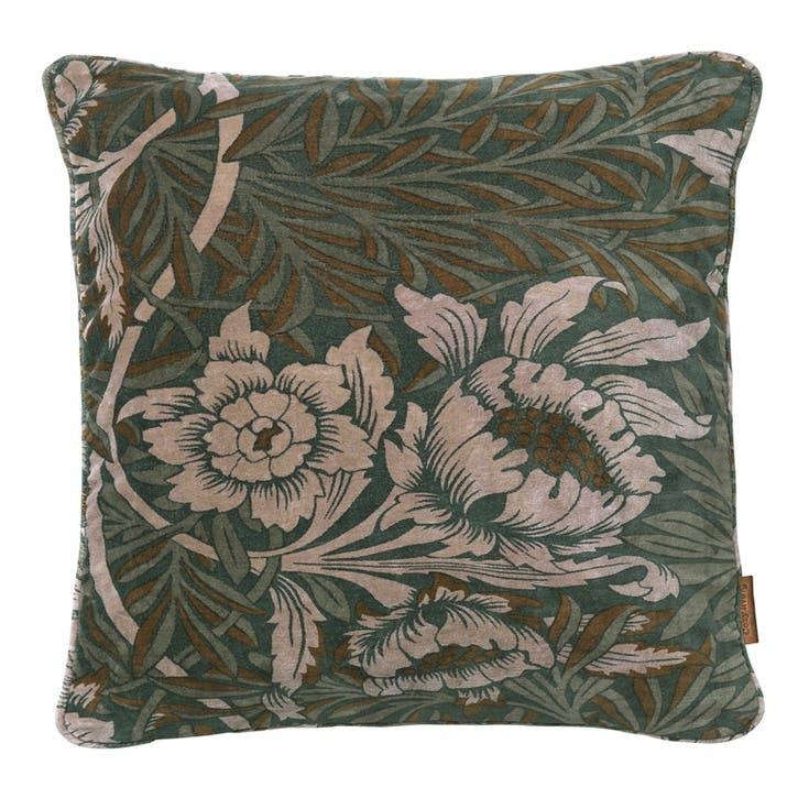 Velvet Sumptuous Flowers Cushion