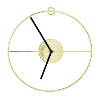 Open Gold Wall Clock