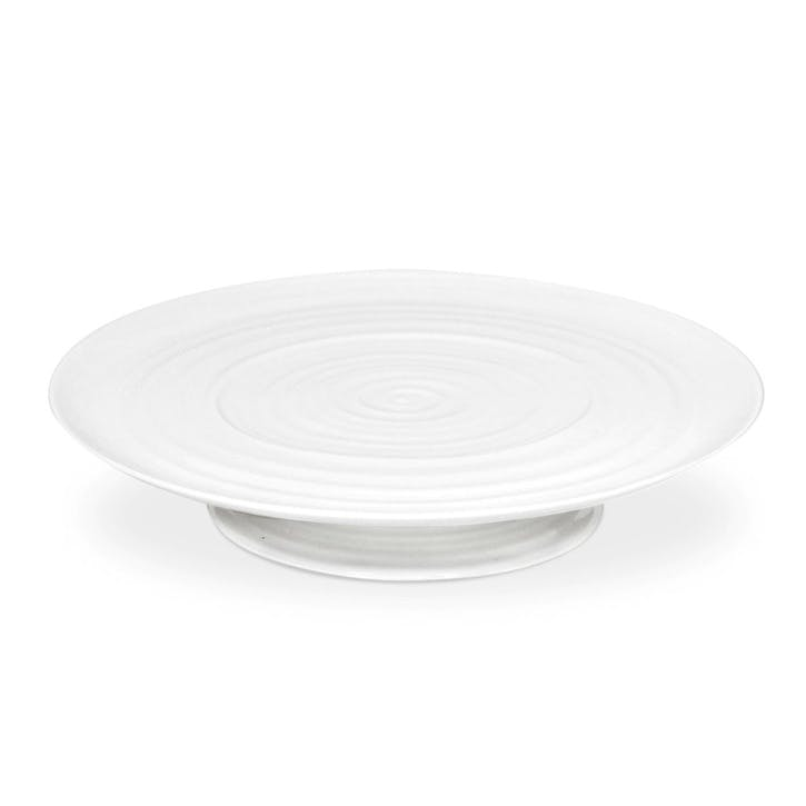 Footed Cake Plate; White