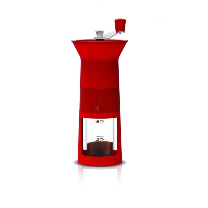 Macinacaffe Manual Moka Coffee Grinder; Red