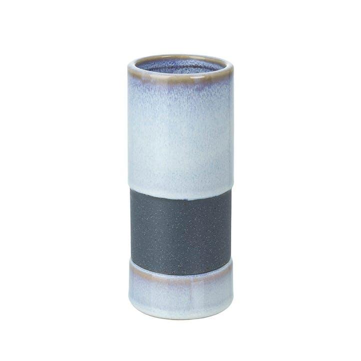 Dual Tone Stoneware Bud Vase, Tall