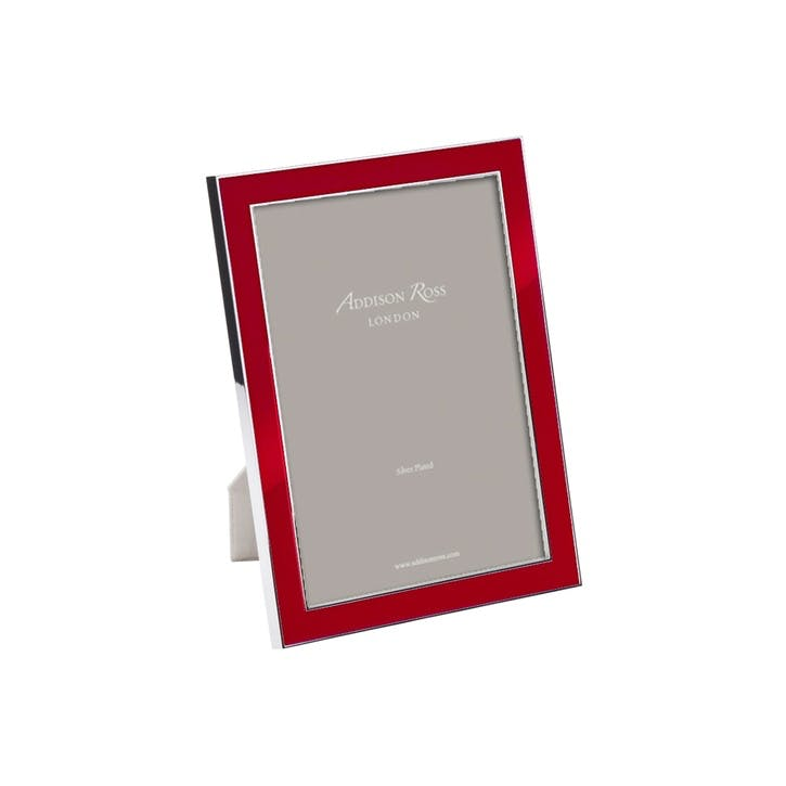 "Rich Enamel Photo Frame - 4"" x 6""; Red"