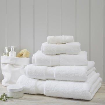 Egyptian Cotton Towel, Face Cloth, White