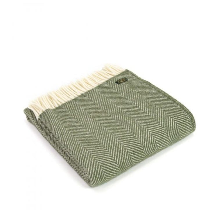 Fishbone Throw; Olive