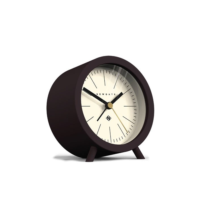 The Fred Alarm Clock, Dia. 11cm, Chocolate Black
