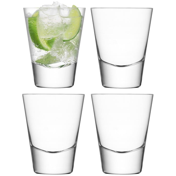 LSA Bar Mixer Tumbler, 225ml, Set of 4