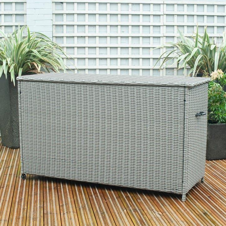 Barbados Cushion Box, Large, Slate Grey