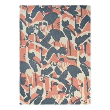 Cranes, Rug, 170 x 240cm, Pink
