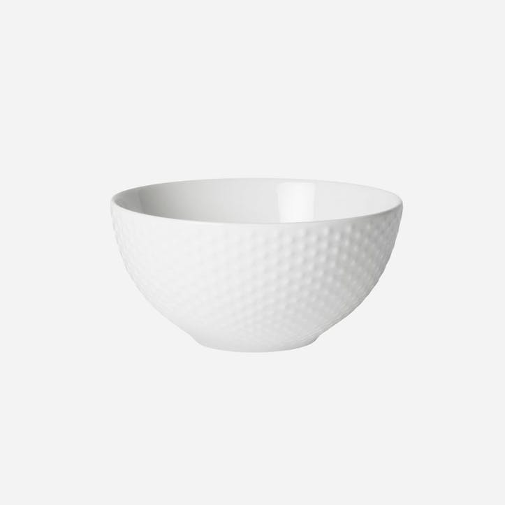 Blonde Stripes, Soup/Cereal Bowl, White