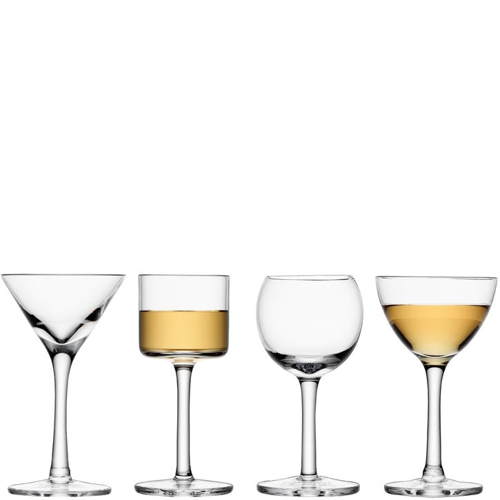 LSA Lulu Liqueur Glass, Set of 4, Assorted