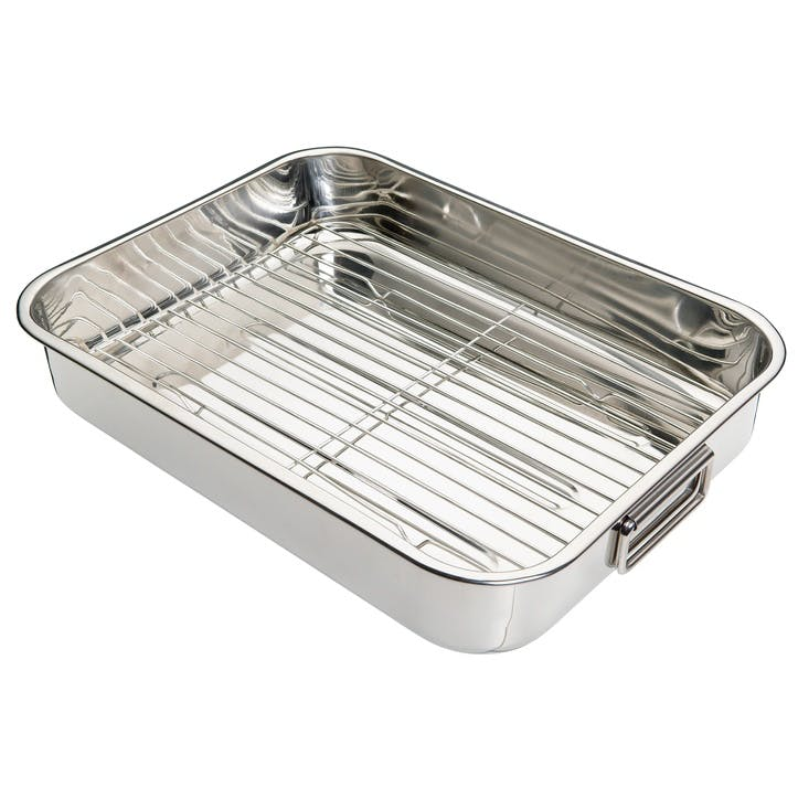 Stainless Steel Roasting Pan, 43cm x 31cm