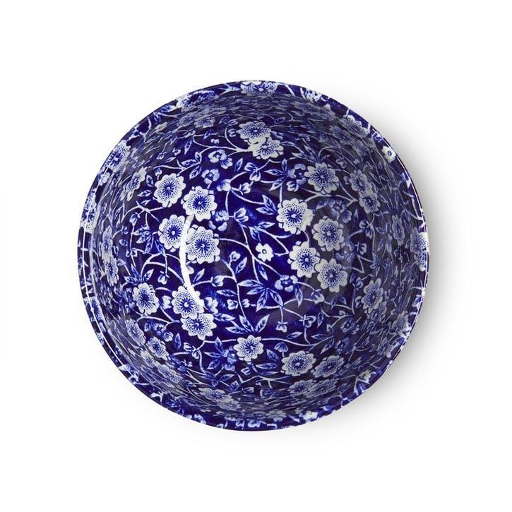 Calico Footed Bowl, Mini, Blue