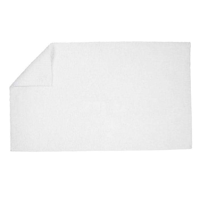 Reversible Bath Mat, White