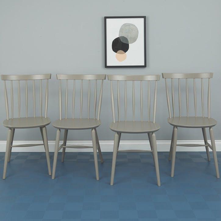 Talia Dining Chair, Grey, Set Of 4