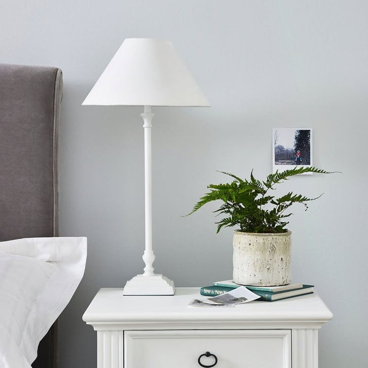Cowley Table Lamp, White