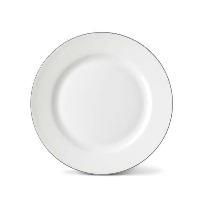Rainbow Side Plate, Stone Grey