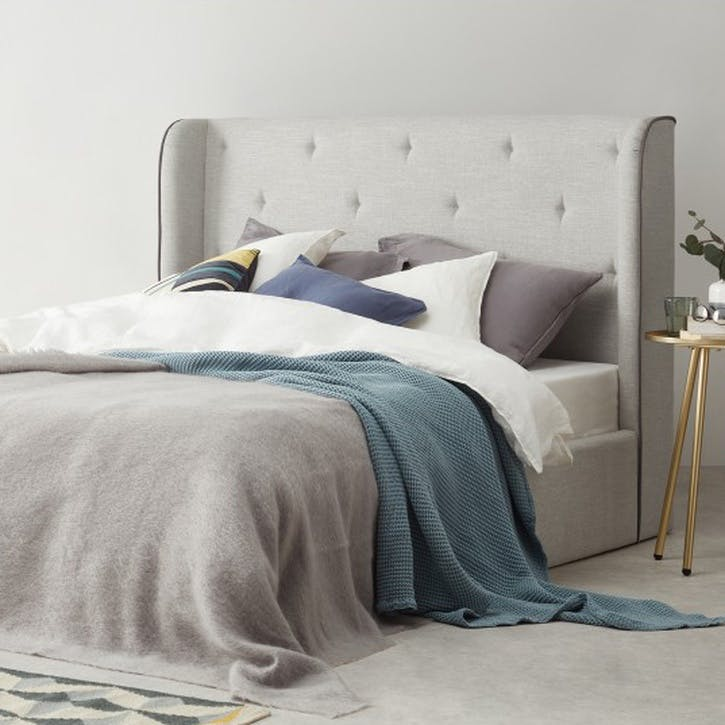 Ormond King Size Bed with Storage, Chic Grey