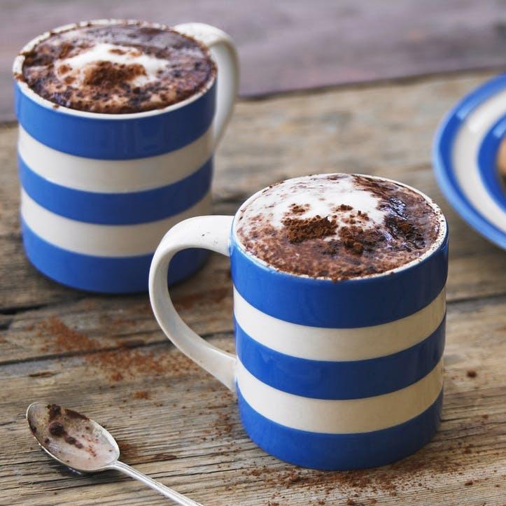 Cornish Blue Coffee Mugs 4oz, Set of 4