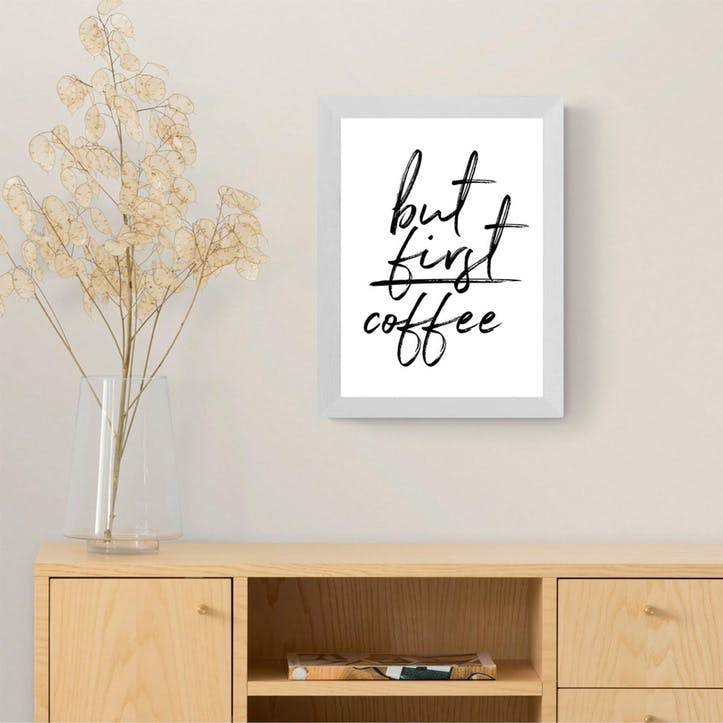 Rafael Farias, But First Coffee Framed Art Print
