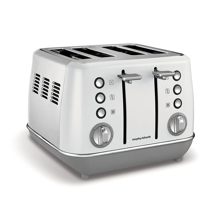Evoke 4 Slice Toaster; White
