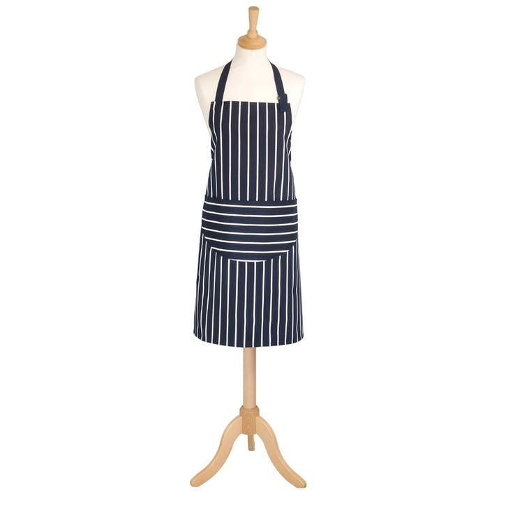 Butchers Stripe Apron, Navy