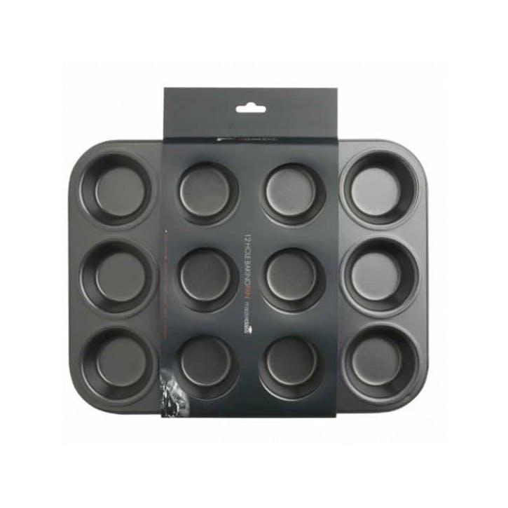Non-Stick 12 Hole Deep Baking Pan