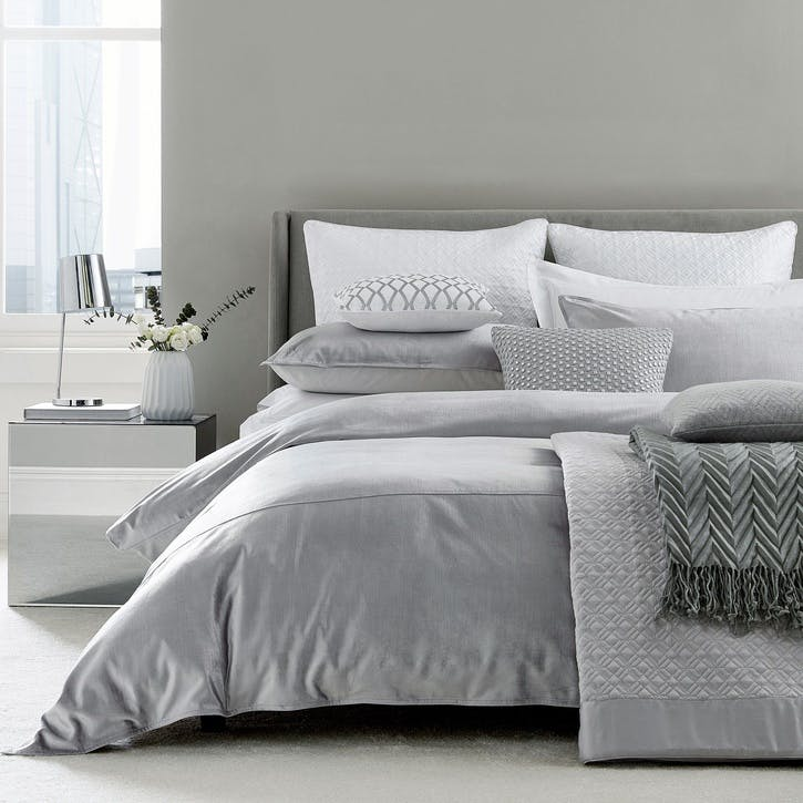 Samsara King Size Duvet Cover, Platinum