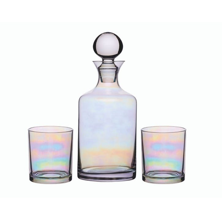Lustre Decanter and Glasses Set