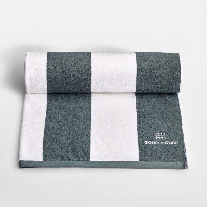 House, Pool Towel, Grey