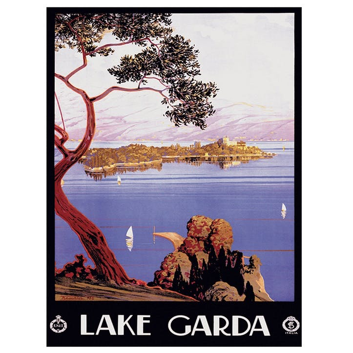 Piddix Lake Garda Canvas, 30 x 40cm
