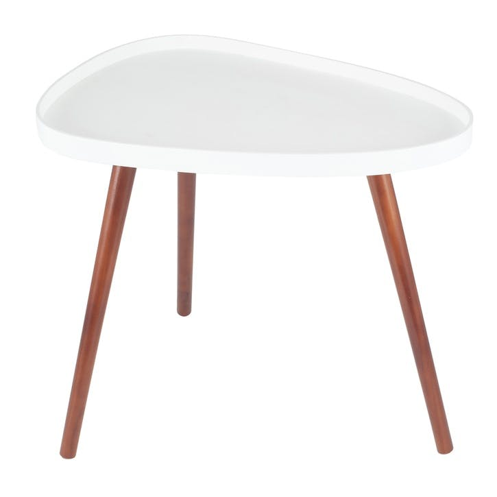 Halston Teardrop Side Table, White