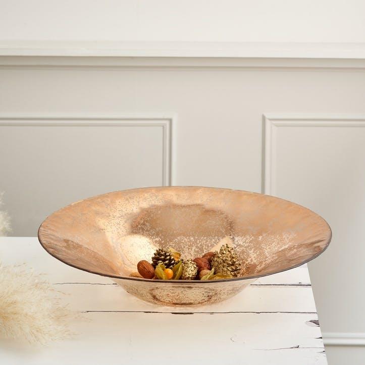 Mercury Glass Centrepiece Bowl; Copper