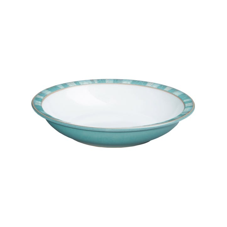 Azure Coast Shallow Rimmed Bowl, 21cm, Blue
