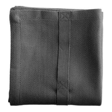 Herringbone Kitchen Towel, L86 x W53cm, Dark Grey