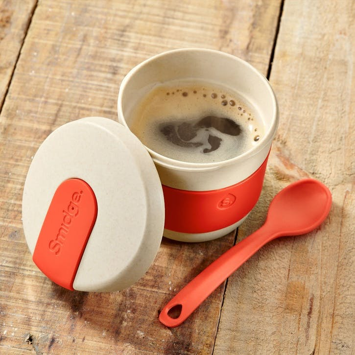 Natural Collection Coffee Cup, 230ml, Sand & Coral