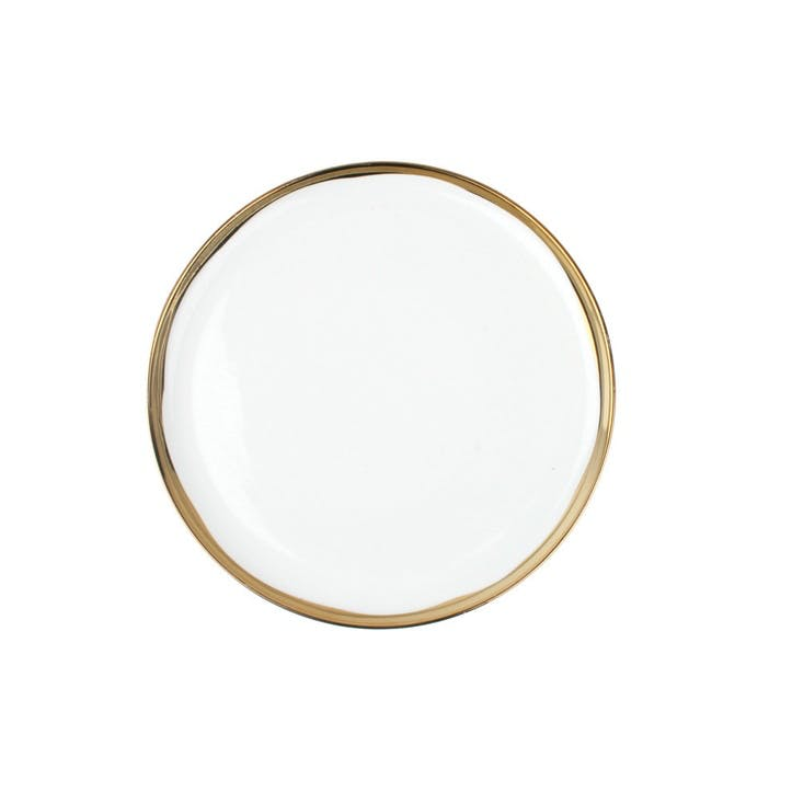 Dauville Dinner Plate, Gold