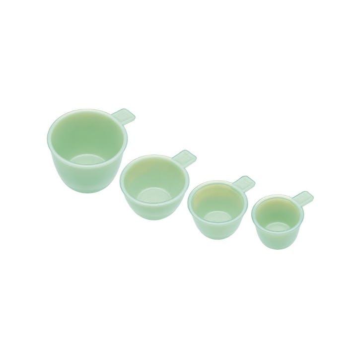 Milk Glass Measuring Cups, Set of 4