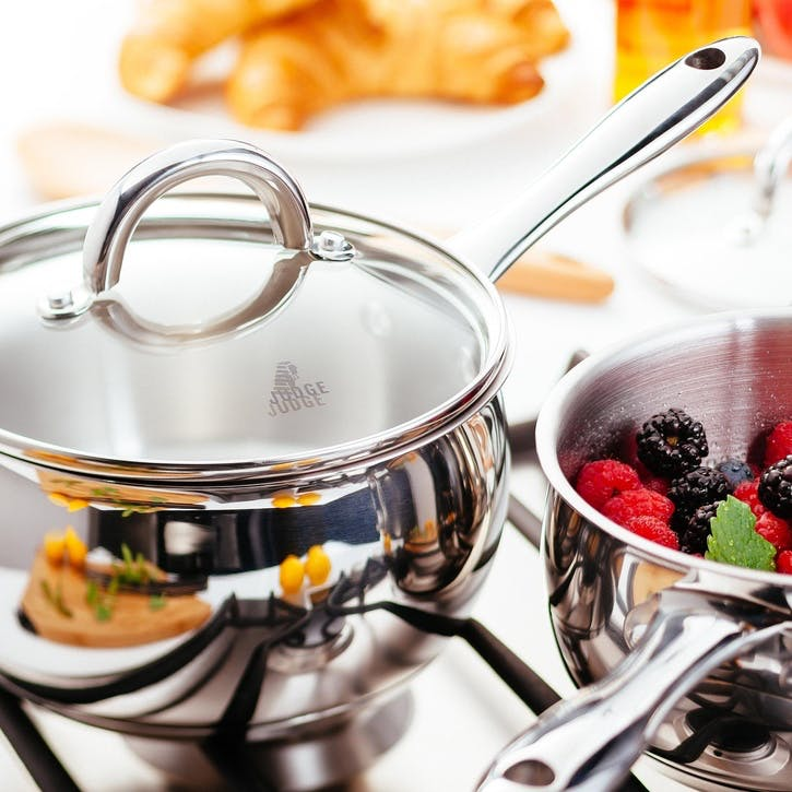 Classic Stainless Steel Pan Set, 5 Pieces