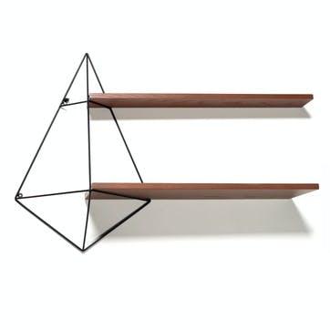 Butterfly Shelf, Double Centre Shelf, Black