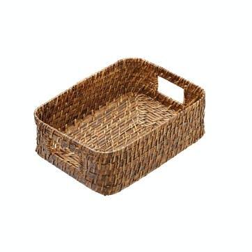 Artesà Set of 2 Natural Bamboo Rattan Serving Baskets