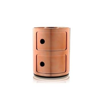 Componibili, 2 Door Cabinet, Copper