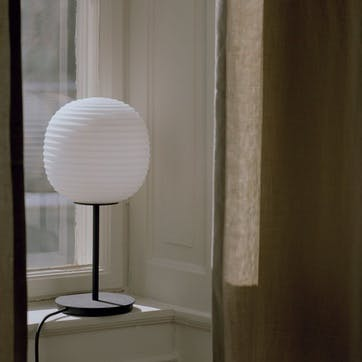 Lantern, Table Lamp, D20cm, Frosted Opal Glass