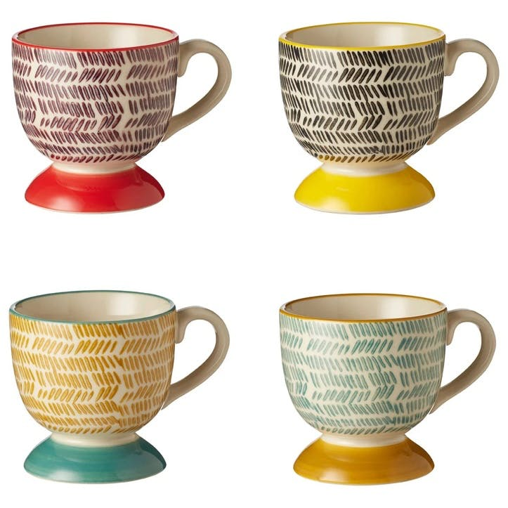 Herrinko Stoneware Espresso Cups, Set of 4, Multi