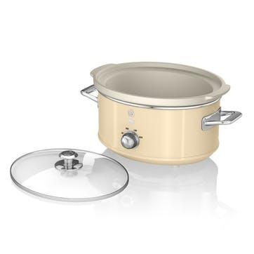 Retro 3.5L Slow Cooker, Cream